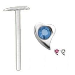 Piercing nez pliable 0.5mm 76 - Coeur courbe