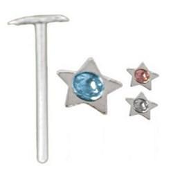 Piercing nez pliable 0.5mm 84 - étoile strass