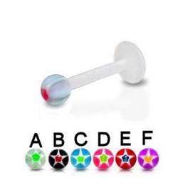 Piercing micro-labret acry 38 - Flexible étoile