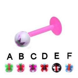 Piercing micro-labret acry 41 - Flexible pap peint