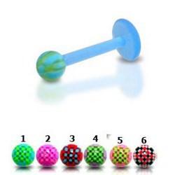 Piercing micro-labret acry 44 - Flexible checker bicolore