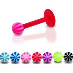 Piercing micro-labret acry 30 - Flexible beach-ball