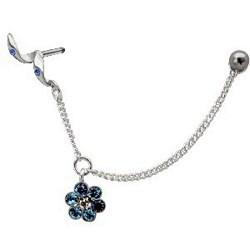 Piercing hélix 89 - Chainette fleur