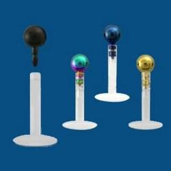 Piercing micro-labret PTFE 66 - PVD boule