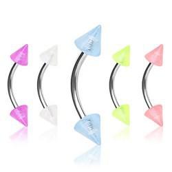 Piercing pour arcade acry 13 - Fluorescent pointes 4mm
