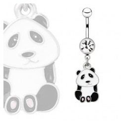 Piercing nombril panda assis (129)