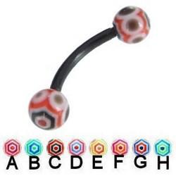 Piercing pour arcade acry 46 - Flexible spider boules