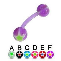Piercing pour arcade acry 48 - Flexible étoile boules