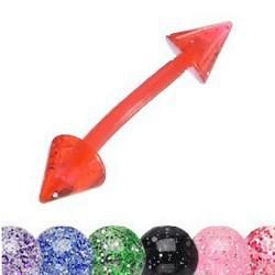 Piercing pour arcade acry 61 - Flexible paillettes pointes