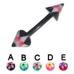Piercing pour arcade acry 62 - Flexible double spider pointes