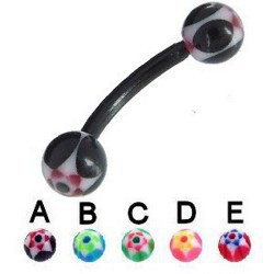 Piercing pour arcade acry 63 - Flexible double spider boules