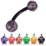 Piercing pour arcade acry 64 - Flexible quadrillage boules