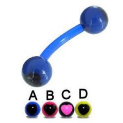Piercing pour arcade acry 66 - Flexible coeur boules