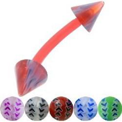 Piercing pour arcade acry 69 - Flexible volley-ball pointes
