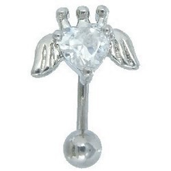 Piercing arcade 85 - Coeur couronne