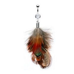 Piercing nombril plume 09 - Multicolore