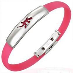Bracelet caoutchouc 08 - Rose salamandre