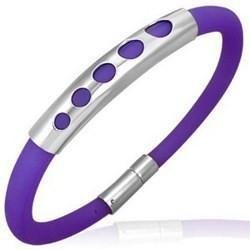 Bracelet caoutchouc 31 - Violet cinq ronds