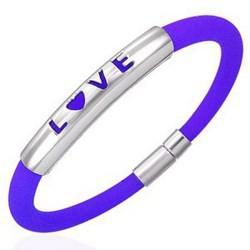 Bracelet caoutchouc 36 - Love