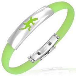 Bracelet caoutchouc 44 - Vert pomme salamandre