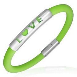 Bracelet caoutchouc 51 - Vert pomme love