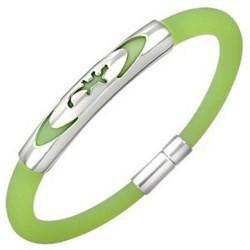 Bracelet caoutchouc 58 - Vert pomme salamandre