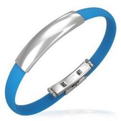 Bracelet caoutchouc 63 - Simple turquoise