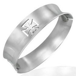 Bracelet jonc 10 - Croix de malte