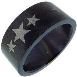 Bague étoiles blanches sur fond noir (13)