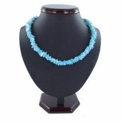 Collier surf 24 - Bleu-clair perles en bois