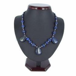 Collier pierre 09 - Ronds et ovales en lapis Lazuli