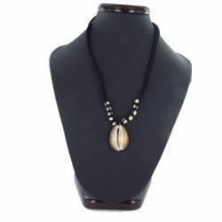Collier coquillage 10 - Porcelaine pendante