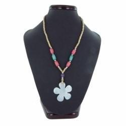 Collier nacre 03 - Fleur et perles
