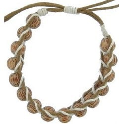 Bracelet surf 16 - Perles rondes en bois