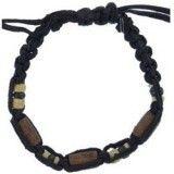 Bracelet surf 23 - Perles et fil noir