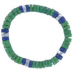 Bracelet surf 25 - Vert et bleu