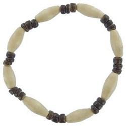 Bracelet surf 32 - Marron et blanc