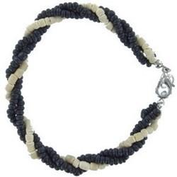 Bracelet surf 36 - Blanc et noir