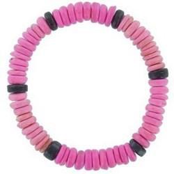 Bracelet surf 01 - Perles roses