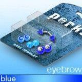 Pack de piercings arcades 12 - Embouts UV bleus