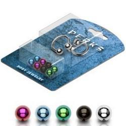 Pack de piercings micro-circulaires 1 - Boules PVD