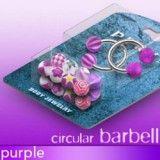 Pack de piercings circulaires 2 - Boules UV lilas