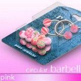 Pack de piercings circulaires 6 - Boules UV roses