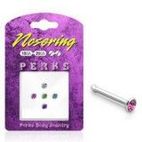Pack de piercings nez 0.8mm 01 - Studs strass plat