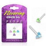 Pack de piercings nez 0.8mm 03 - Argent triangulaires