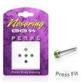 Pack de piercings nez 0.8mm 14 - Studs strass