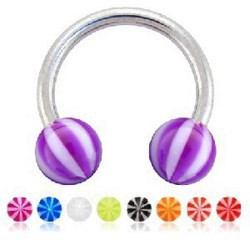 Piercing micro-circulaire 68 - UV beach-ball