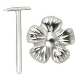 Piercing nez pliable 0.5mm 120 - Belle fleur relief
