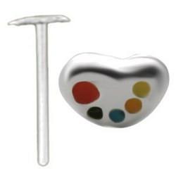 Piercing nez pliable 0.5mm 114 - Coeur palette