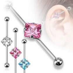 Piercing industriel 37 - Cristal losange